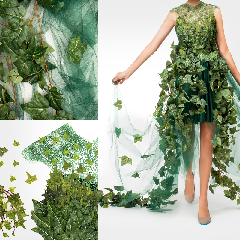 Tieks the blue prints blog what youll need green dress ivy 15 yards of green tulle green ribbon any hot glue gun solutioingenieria Image collections