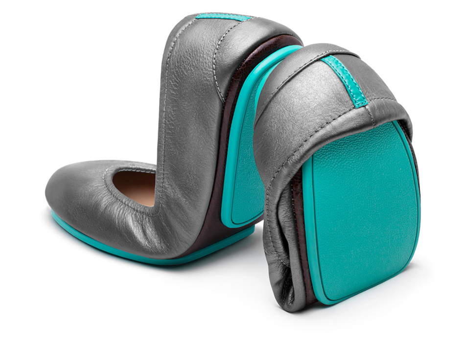 Metallic Pewter Ballet Flats | Tieks